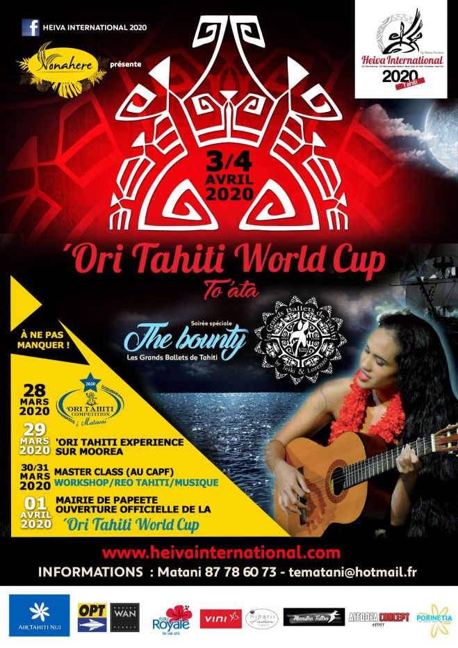 Registrations are now open for the 2020 'Ori Tahiti World Cup until Feb. 14th 2020